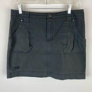 Arc'teryx Alumina Canvas Skirt Dark Grey Size 6